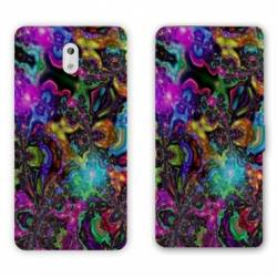 Housse cuir portefeuille Nokia 2.1 (2018) Psychedelic