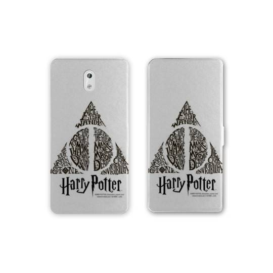 Housse cuir portefeuille Nokia 2.1 (2018) WB License harry potter pattern