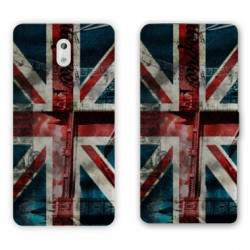 Housse cuir portefeuille Nokia 3.1 (2018) Angleterre