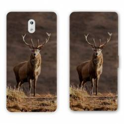 Housse cuir portefeuille Nokia 3.1 (2018) chasse peche