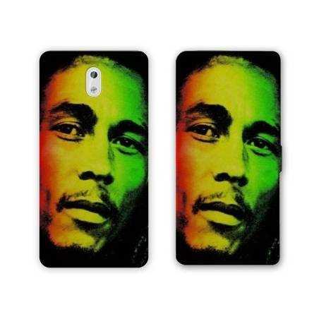 Housse cuir portefeuille Nokia 3.1 (2018) Bob Marley