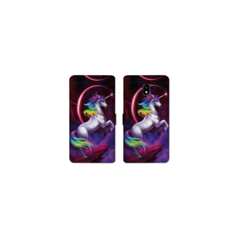 Housse cuir portefeuille Nokia 3.1 (2018) Licorne