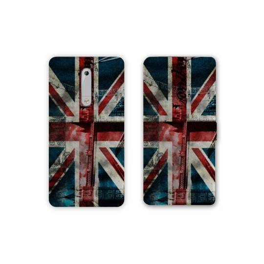 Housse cuir portefeuille Nokia 5.1 (2018) Angleterre
