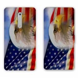 Housse cuir portefeuille Nokia 5.1 (2018) Amerique