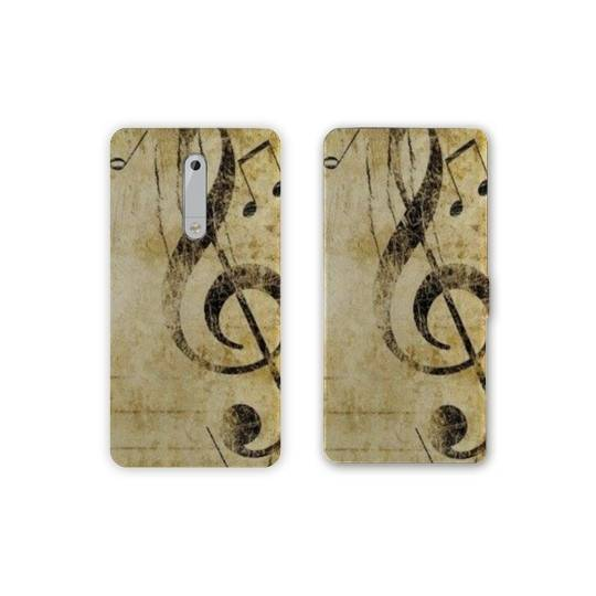 Housse cuir portefeuille Nokia 5.1 (2018) Musique