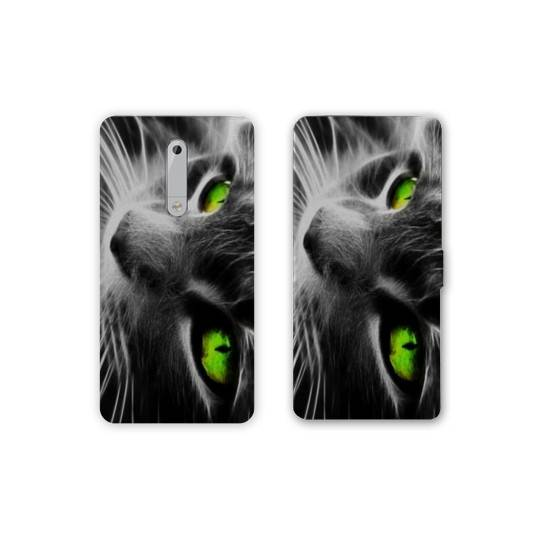 Housse cuir portefeuille Nokia 5.1 (2018) animaux