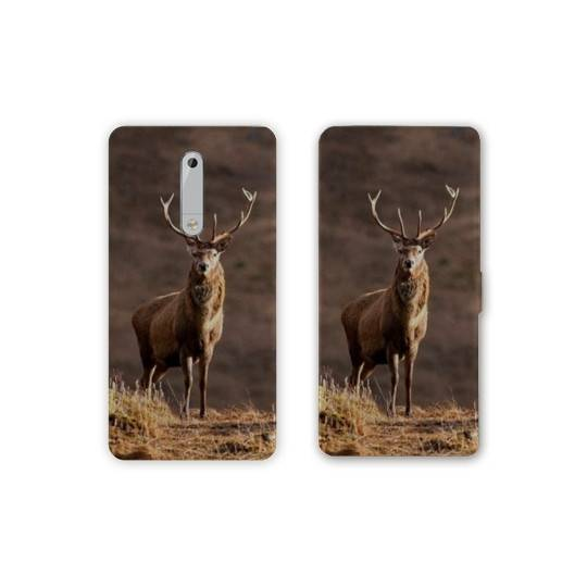 Housse cuir portefeuille Nokia 5.1 (2018) chasse peche