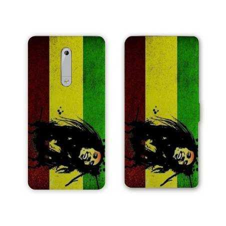 Housse cuir portefeuille Nokia 5.1 (2018) Bob Marley