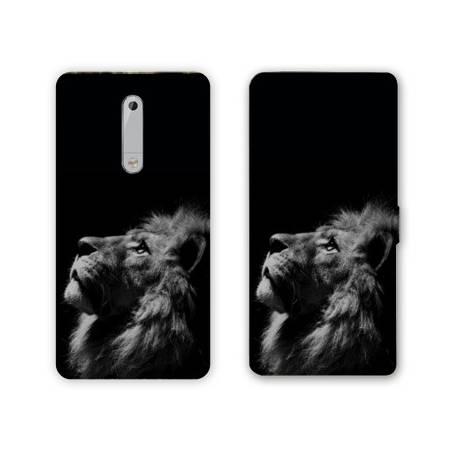 Housse cuir portefeuille Nokia 5.1 (2018) felins