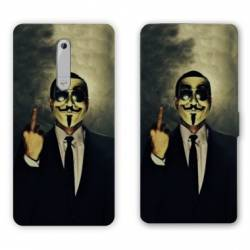 Housse cuir portefeuille Nokia 5.1 (2018) Anonymous