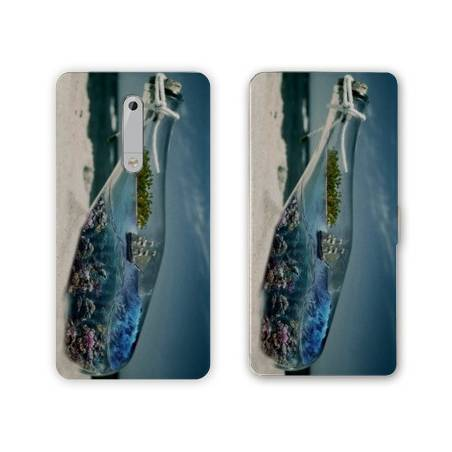 Housse cuir portefeuille Nokia 5.1 (2018) Mer