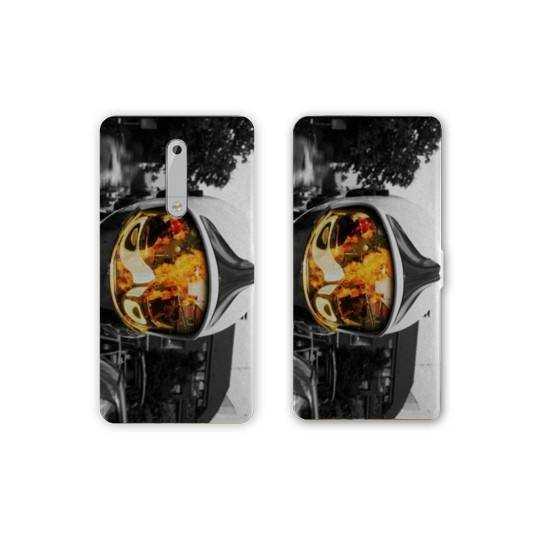 Housse cuir portefeuille Nokia 5.1 (2018) pompier police
