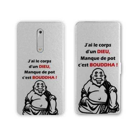 Housse cuir portefeuille Nokia 5.1 (2018) Humour