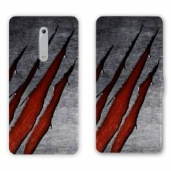 Housse cuir portefeuille Nokia 5.1 (2018) Texture