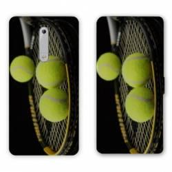 Housse cuir portefeuille Nokia 5.1 (2018) Tennis