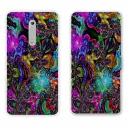 Housse cuir portefeuille Nokia 5.1 (2018) Psychedelic