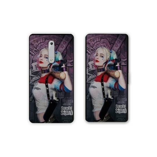 Housse cuir portefeuille Nokia 5.1 (2018) Harley Quinn