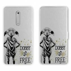 Housse cuir portefeuille Nokia 5.1 (2018) WB License harry potter dobby