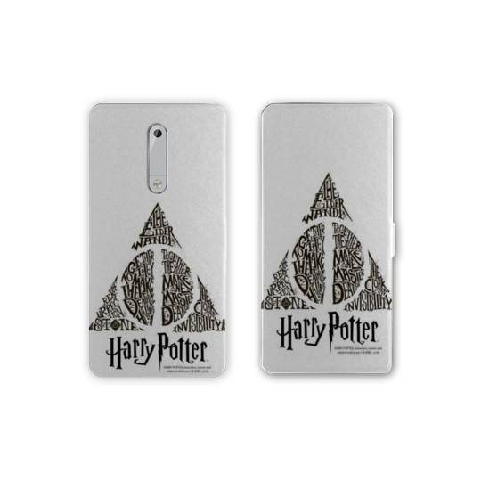 Housse cuir portefeuille Nokia 5.1 (2018) WB License harry potter pattern