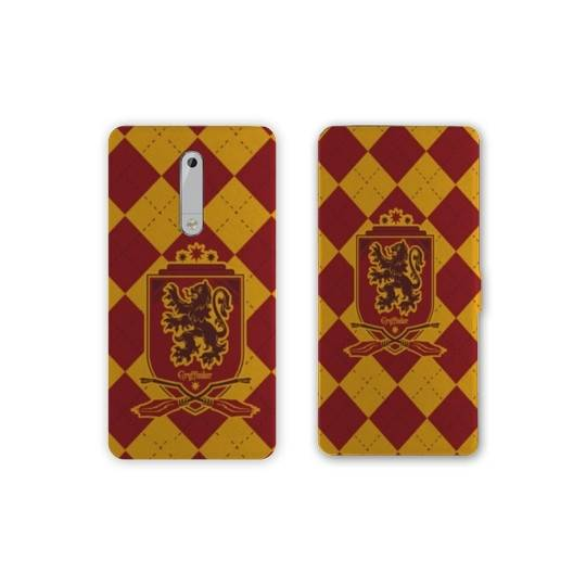 Housse cuir portefeuille Nokia 5.1 (2018) WB License harry potter ecole
