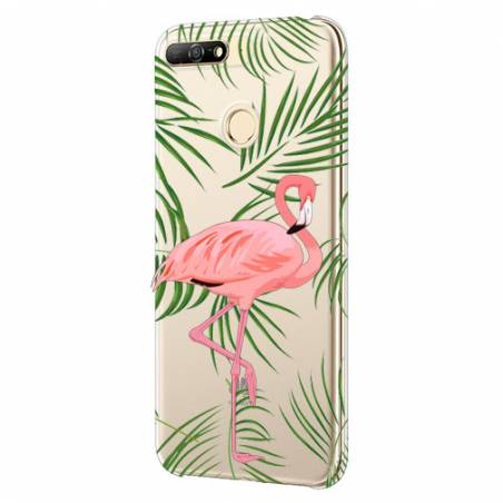 Coque transparente Huawei Y6 (2018) / Honor 7A Flamant Rose