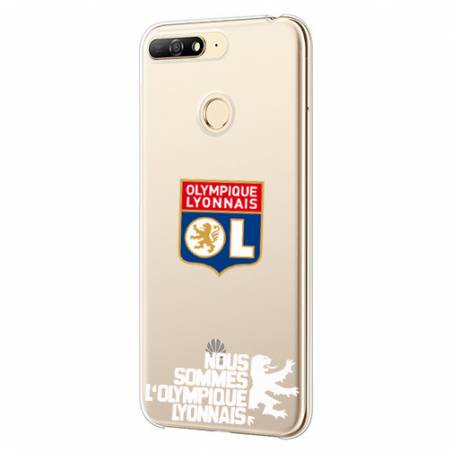 Coque transparente Huawei Y6 (2018) / Honor 7A Licence Olympique Lyonnais - double face