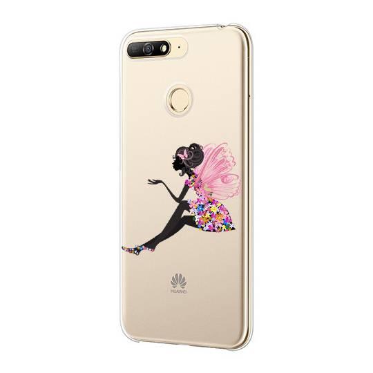 Coque transparente Huawei Y6 (2018) / Honor 7A magique fee fleurie