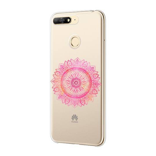 Coque transparente Huawei Y6 (2018) / Honor 7A mandala rose