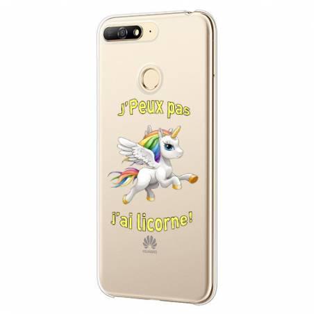 Coque transparente Huawei Y6 (2018) / Honor 7A jpeux pas jai licorne
