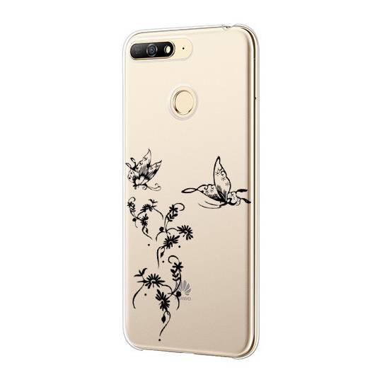 Coque transparente Pour Huawei Y6 (2018) / Honor 7A feminine envol fleur