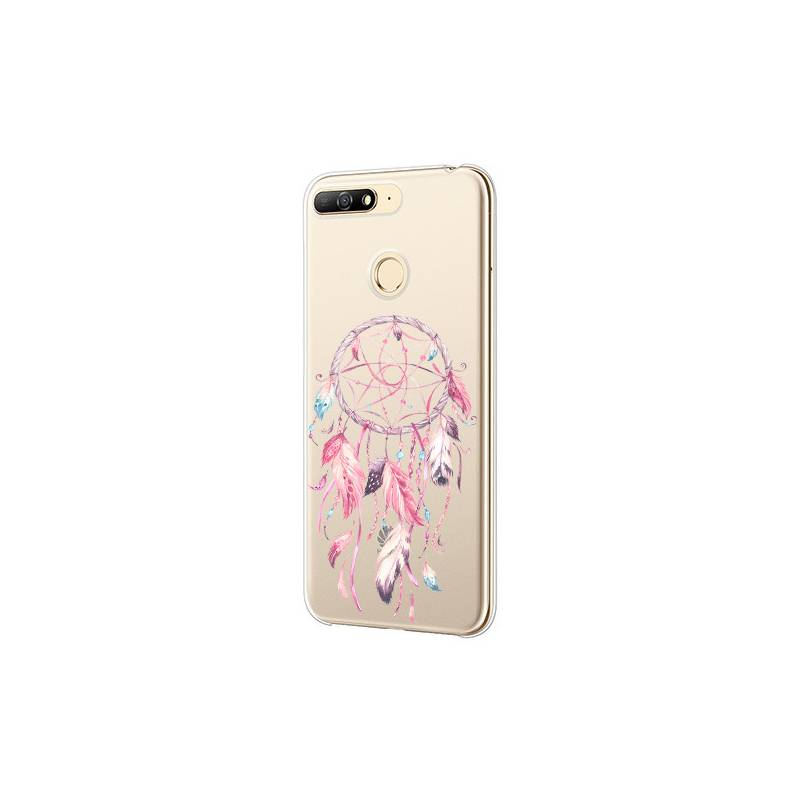 Coque transparente Huawei Y6 (2018) / Honor 7A feminine attrape reve rose