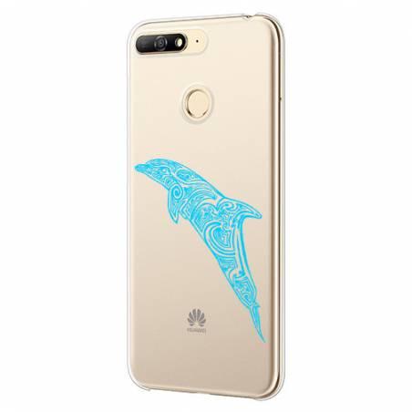 Coque transparente Huawei Y6 (2018) / Honor 7A dauphin