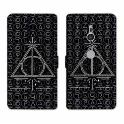 Housse cuir portefeuille Sony Xperia XZ3 WB License harry potter pattern