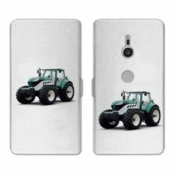 Housse cuir portefeuille Sony Xperia XZ3 Agriculture
