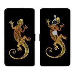 Housse cuir portefeuille Sony Xperia XZ3 Animaux Maori