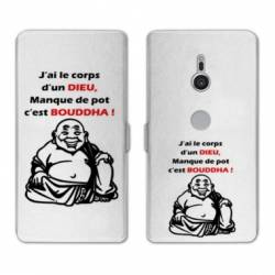 Housse cuir portefeuille Sony Xperia XZ3 Humour