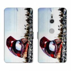 Housse cuir portefeuille Sony Xperia XZ3 Moto