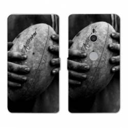 Housse cuir portefeuille Sony Xperia XZ3 Rugby