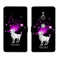 Housse cuir portefeuille Sony Xperia XZ3 signe zodiaque