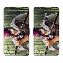 Housse cuir portefeuille Sony Xperia XZ3 Manga - divers