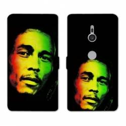 Housse cuir portefeuille Sony Xperia XZ3 Bob Marley
