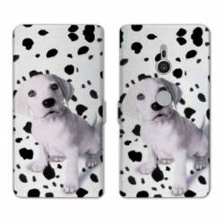 Housse cuir portefeuille Sony Xperia XZ3 animaux