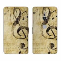 Housse cuir portefeuille Sony Xperia XZ3 Musique