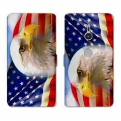 Housse cuir portefeuille Sony Xperia XZ3 Amerique