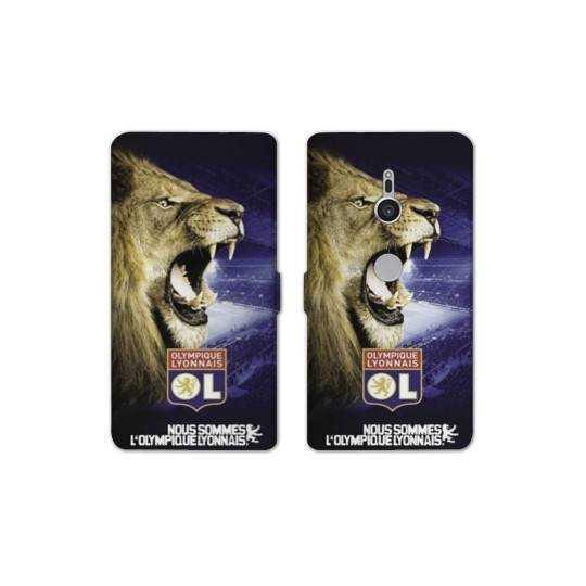 Housse cuir portefeuille Sony Xperia XZ2 Licence Olympique Lyonnais - Rage de vaincre