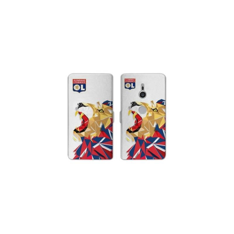 Housse cuir portefeuille Sony Xperia XZ2 License Olympique Lyonnais OL - lion color
