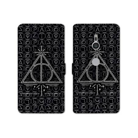 Housse cuir portefeuille Sony Xperia XZ2 WB License harry potter pattern