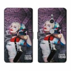 Housse cuir portefeuille Sony Xperia XZ2 Harley Quinn