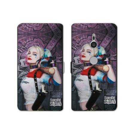 Housse cuir portefeuille Sony Xperia XZ2 Harley Quinn