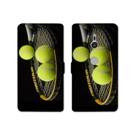 Housse cuir portefeuille Sony Xperia XZ2 Tennis